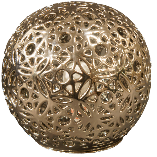 Orb Silver Lamp
