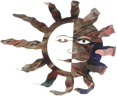 Blowing Sun Metal Wall Art
