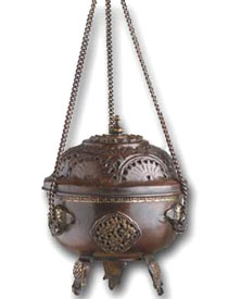 Antiqued Hanging Incense Burner