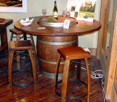 World Vineyards Collection Barrel Bistro Table