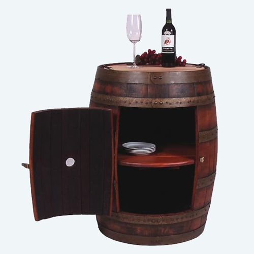 Wine2Night Collection Full Barrel Cabinet on Casters