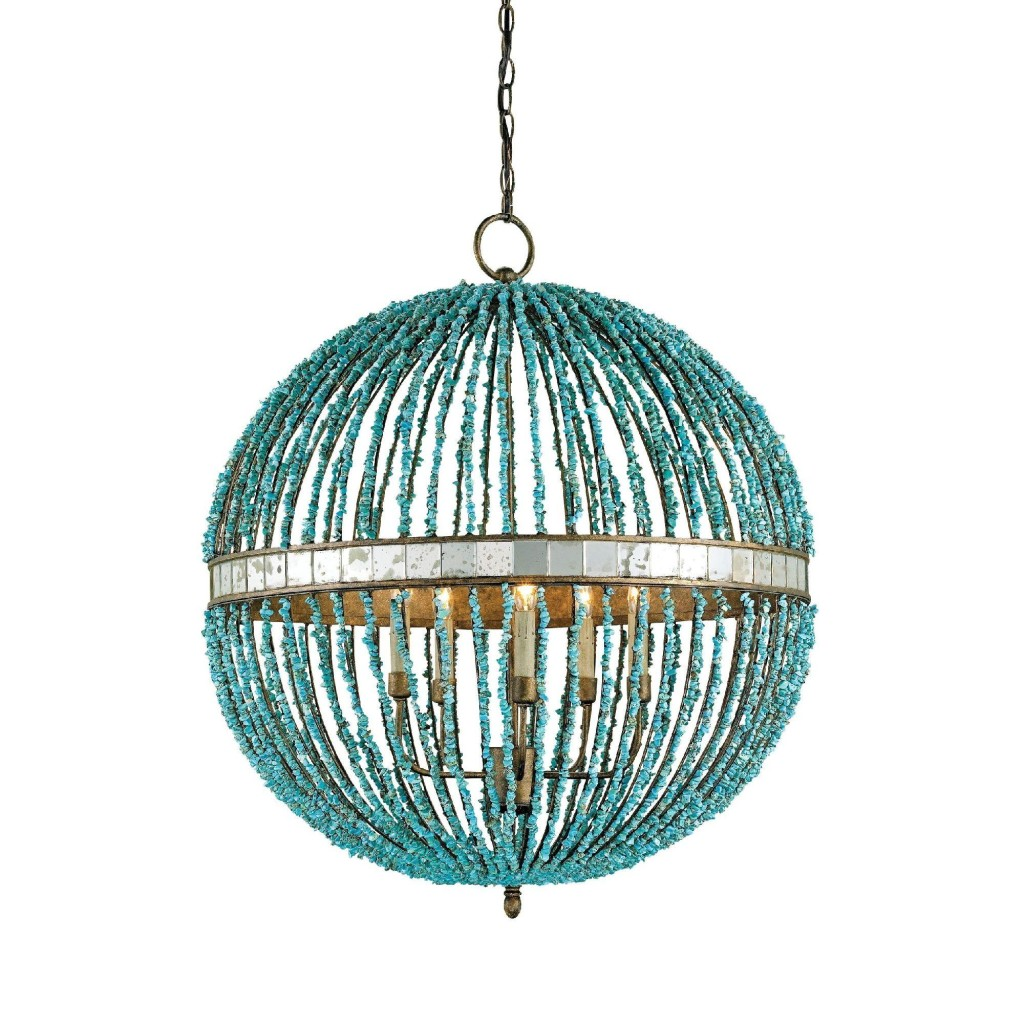 Currey And Company Orb Chandelier: Beaded Chandeliers