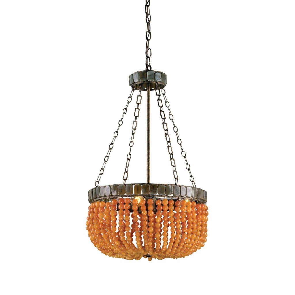 Lana Chandelier in Apricot, 4L design by Currey & Company