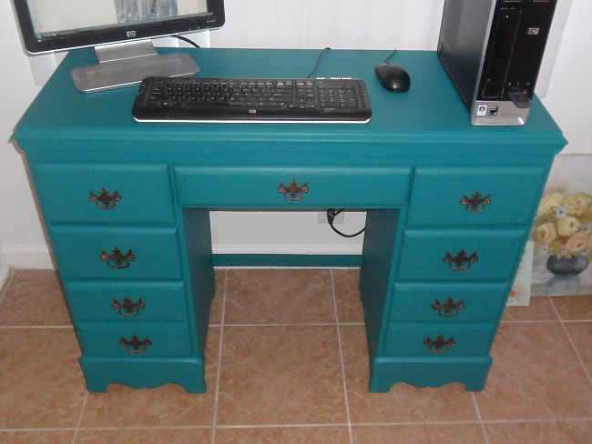 Refurbished Teal Desk