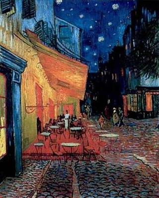 The Cafe Terrace Oil On Canvas Abstract Art -  Van Gogh