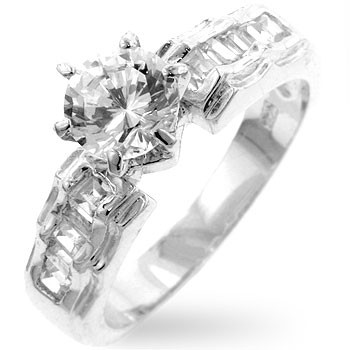 Marcella Engagement Ring - Simulated Diamond Engagement Ring