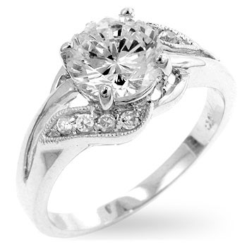 Clair Ring - Simulated Diamond Ring