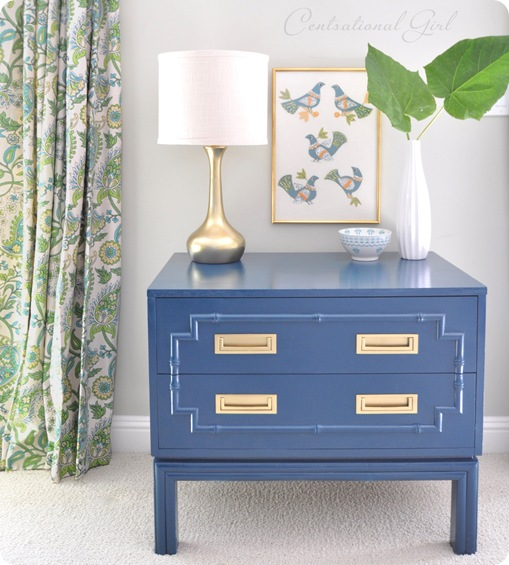 Blue Night Stand or End Tables