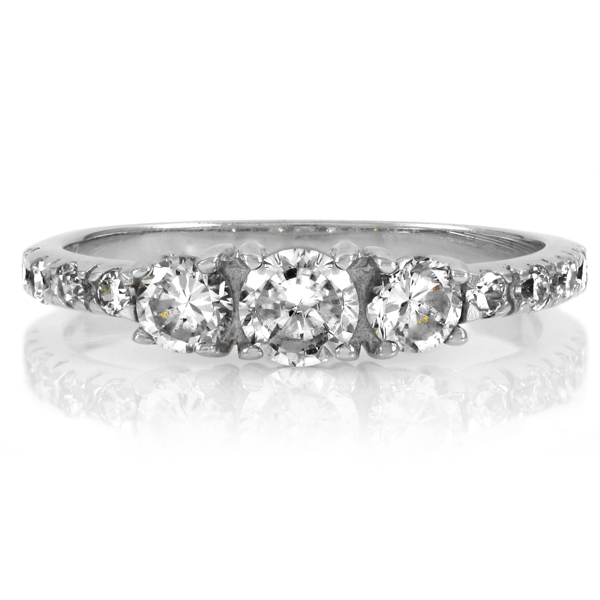 Marlow's Round Cut Three Stone Promise Ring