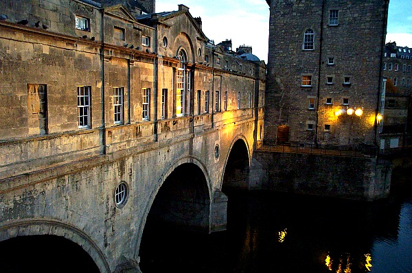 River Avon Bridge Bath England