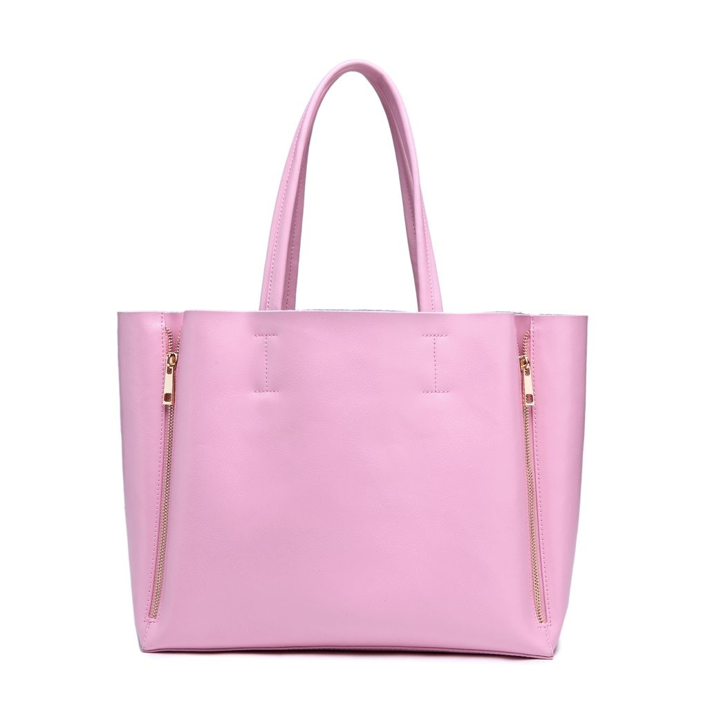 Tess Genuine Leather Ingrid Tote - Pastel Pink
