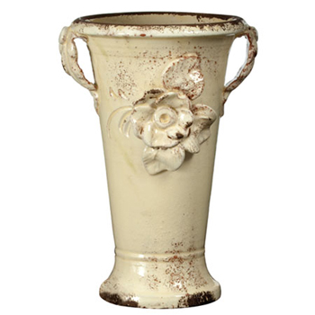 Vietri Small Cream Trumpet Vase