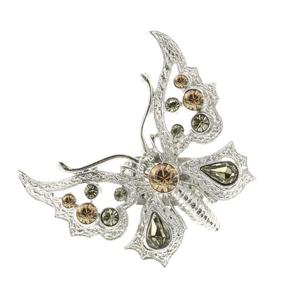 Thalia Topaz Crystal Butterfly Stretch Ring