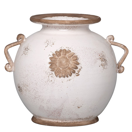 Vietri Medium White Round Vase