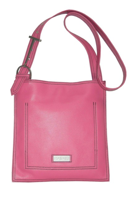 Leather Scoop Sling Pink Hadaki Handbag