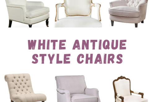 White Antique Style Chairs