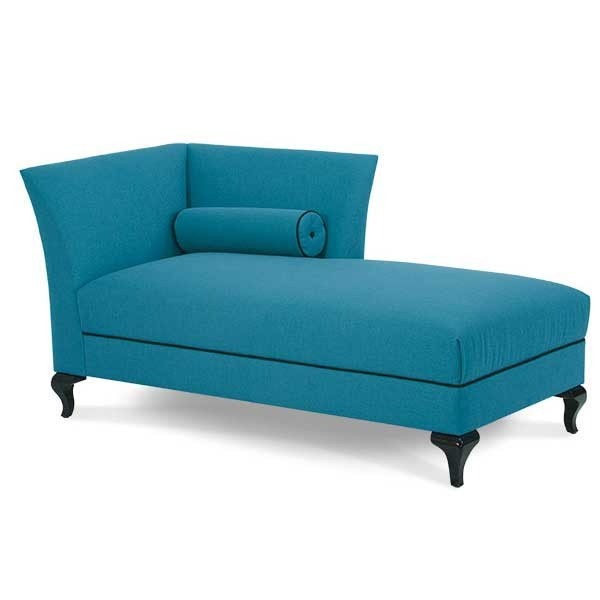 Aico After Eight Black Onyx Turquoise Left Arm Chaise