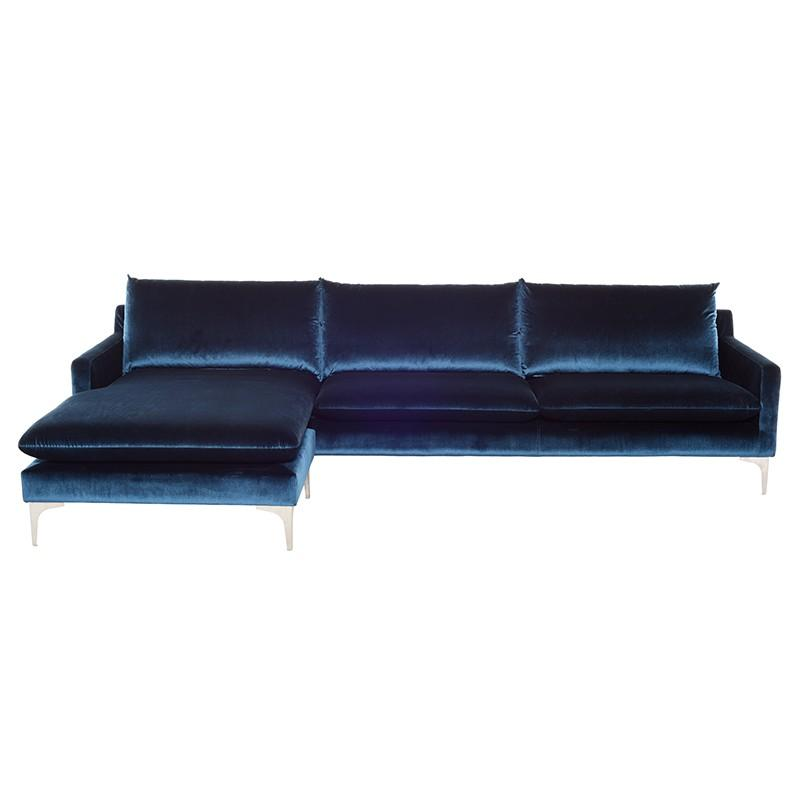 Anders Sectional in Midnight Blue