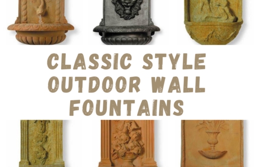 Classic Style Outdoor Wall Fountains