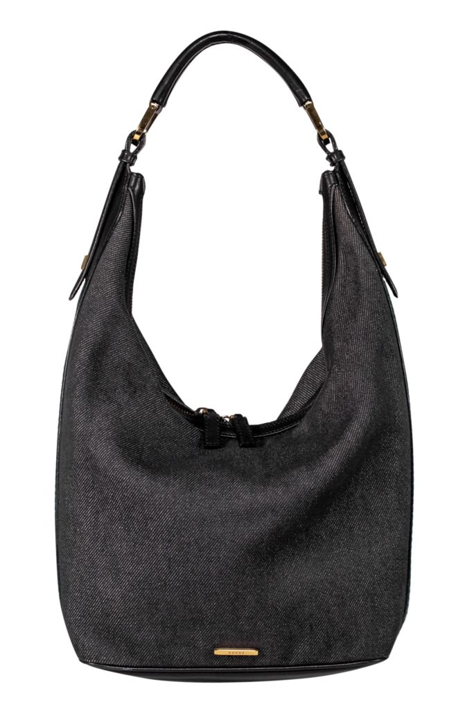Classic Gucci vintage black denim bag. Easy to wear from day to night. Made in Italy.
