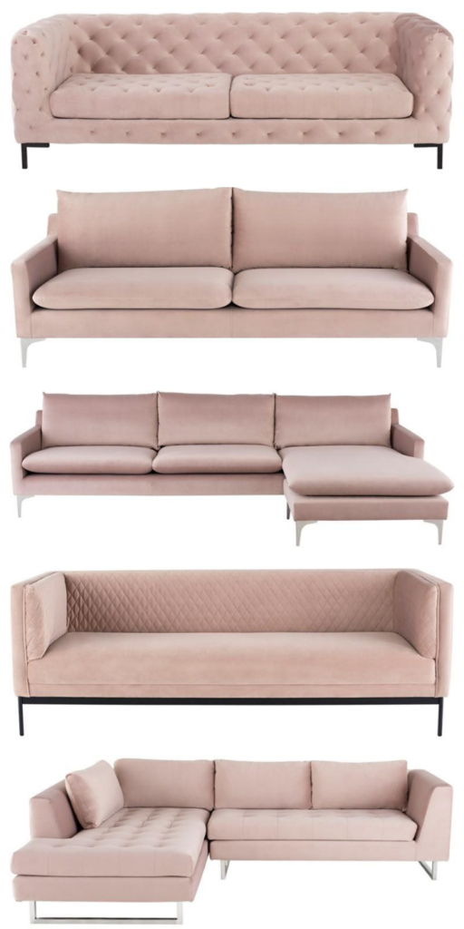 Pink Sofas and Sectionals