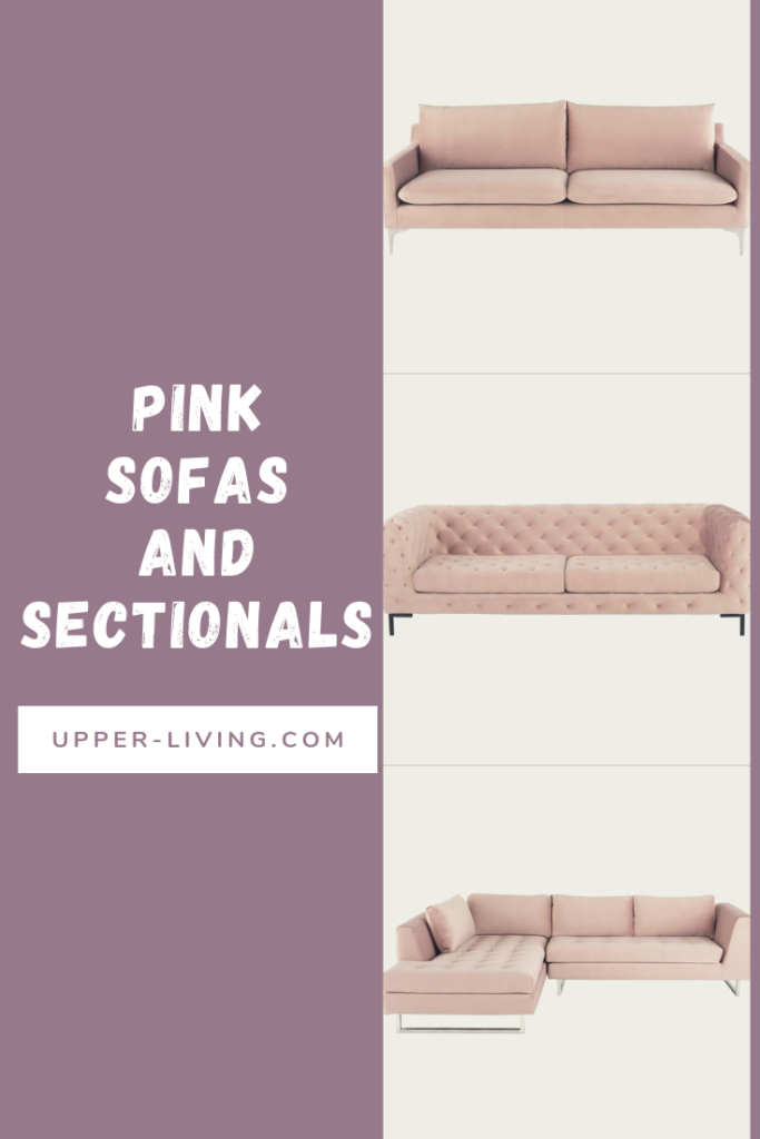 Pink Sofas And Sectionals available for your chic home decor