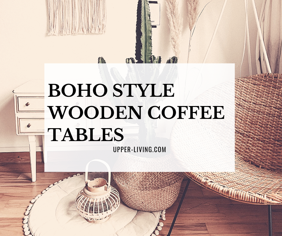 Boho Style Wooden Coffee Tables