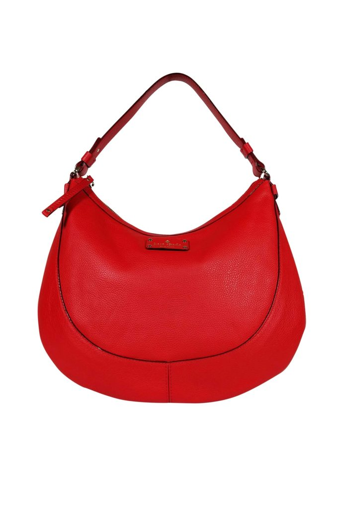 Kate Spade - Red Leather Hobo Bag   This fire red hobo bag by Kate Spade will make a great addition to your purse collection. You can carry all of your essential needs in this gorgeous spacious bag for everyday wear.