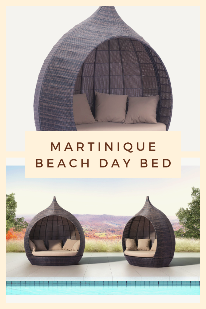 Martinique Beach Day Bed | Outdoor Living | Outdoor Furniture | Allow the Martinique Day Bed to whisk you away. The dome shape of this piece creates your own environment for a relaxing resort feel that takes you to paradise and is stylish enough for any space. Perfect for indoor and outdoor spaces
