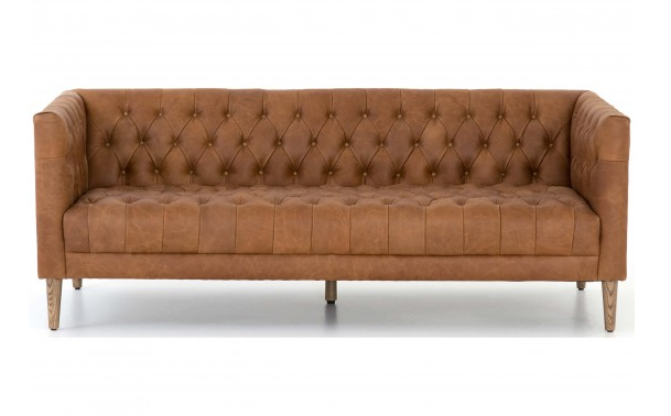 The Williams Leather Sofa is the perfect balance of mid-century and chic sensibilities.