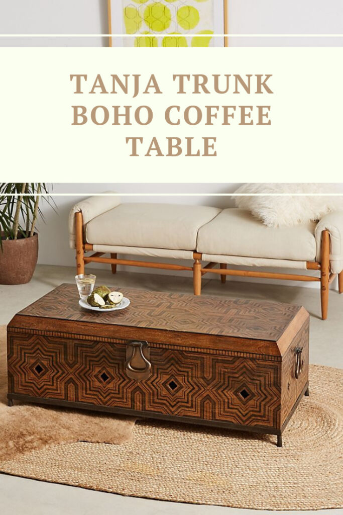 Tanja Trunk Boho Coffee Table